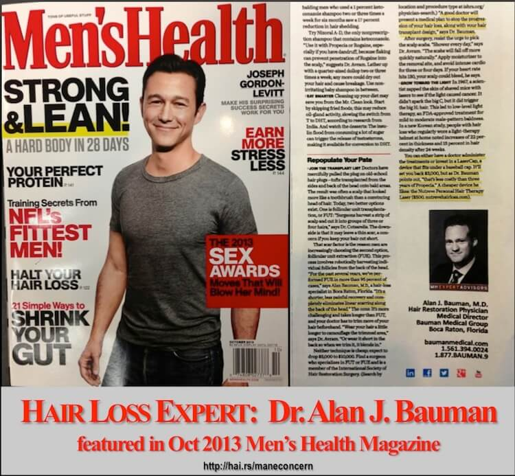 Stupendous Mens Health Magazine Feature Bauman Medical Group Hairstyle Inspiration Daily Dogsangcom