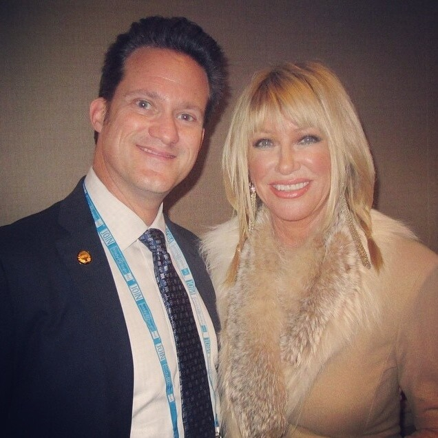 Dr Alan J Bauman With The Queen Of Anti Aging Suzanne Somers