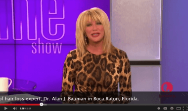 Watch Video about LaserCap for Thinning Hair on The Suzanne Somers Show on LifetimeTV