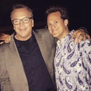 Dr. Alan J. Bauman with Actor Tom Arnold