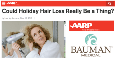 ARTICLE: Could Holiday Hair Loss Really Be a Thing?