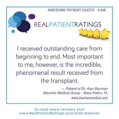 Dr Alan Bauman Reviews From Verified Real Patients
