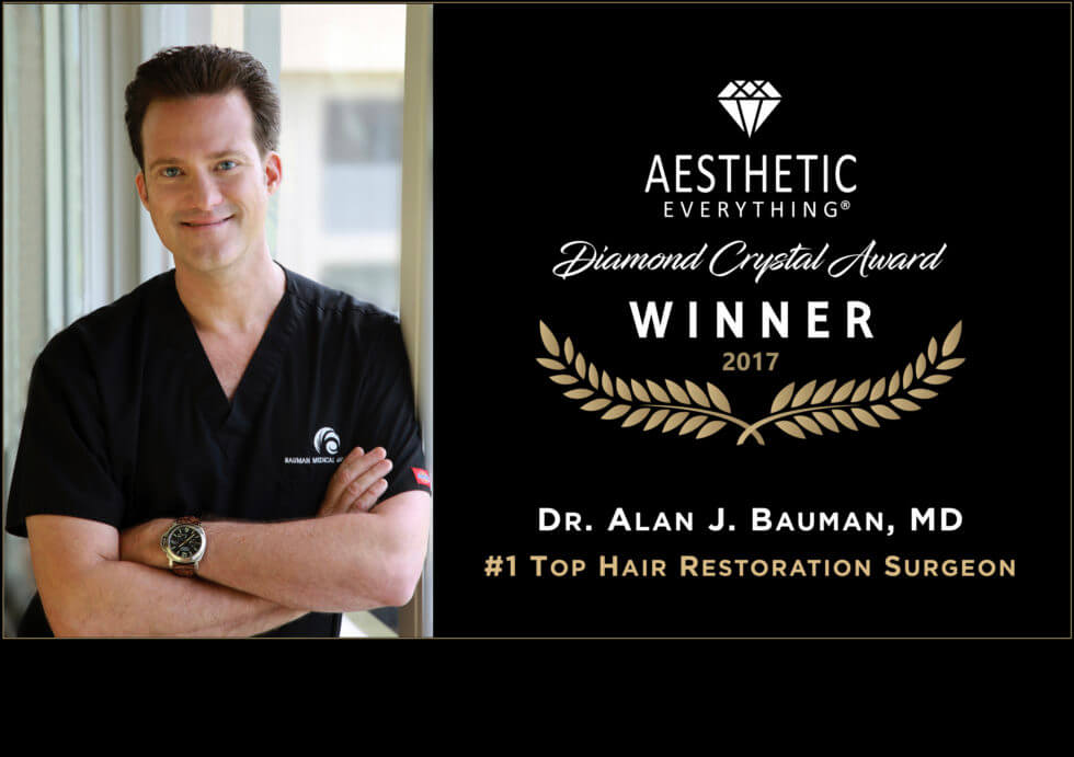 Press Release Dr Alan Bauman Receives America S 1 Top Hair Restoration Surgeon Award