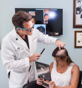 dr alan bauman_with cancer hair loss patient